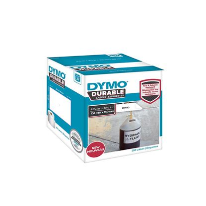 Picture of DYMO Genuine Durable LabelWriter Labels,104mm x159mm White Poly,