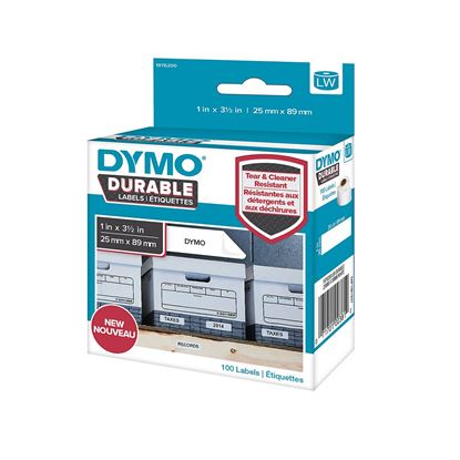 Picture of DYMO Genuine Durable LabelWriter Labels, 25mm x 89mm White Poly,