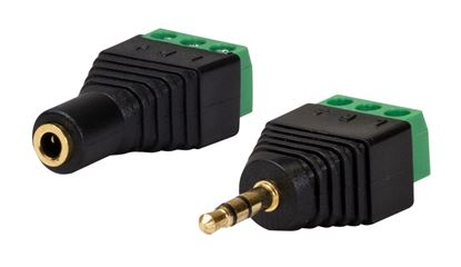Picture of DYNAMIX 3.5mm Stereo to Wired Adapter, PAIR (Male and Female).