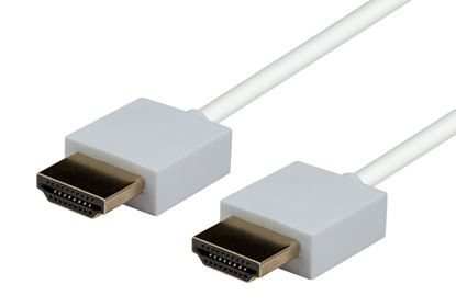 Picture of DYNAMIX 3M HDMI WHITE Nano High Speed With Ethernet Cable. Designed