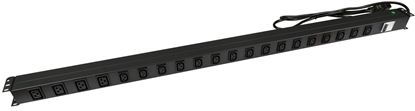Picture of DYNAMIX 20 Outlet Vertical Power Rail  (16x 10A IEC C13 & 4x 16A IEC