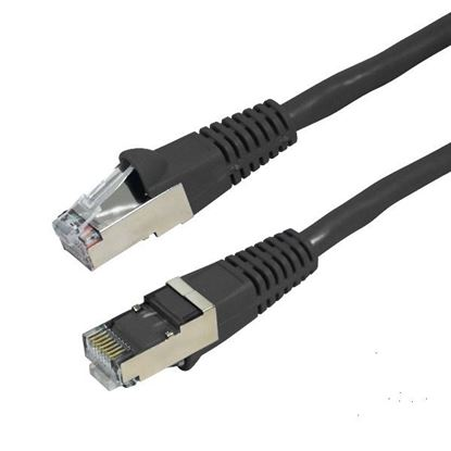 Picture of DYNAMIX 0.5m Cat6A Black SFTP 10G Patch Lead. (Cat6 Augmented) 500MHz