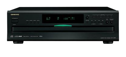 Picture of ONKYO 6-Disc CD Carousel Changer. Vector linear shaping circuitry.