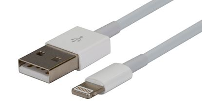 Picture of DYNAMIX 1m USB to Lightning Charge & Sync Cable. For Apple iPhone,