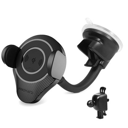 Picture of PROMATE Qi Ultra-Fast Wireless Car Phone Charging Mount. Clamps