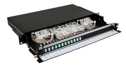 Picture of DYNAMIX 19' 1U Fibre Tray 24C LC MM FULLY LOADED w 24x LC Elite OM4