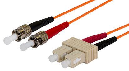 Picture of DYNAMIX 0.5M 62.5u SC/ST OM1 Fibre Lead (Duplex, Multimode)