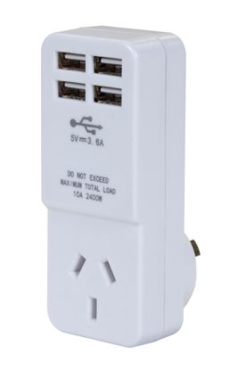 Picture of DYNAMIX USB Wall Charger, with 4 USB outlets and 1 main power