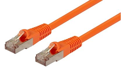 Picture of DYNAMIX 1m Cat6A Orange SFTP 10G Patch Lead. (Cat6 Augmented) 500MHz