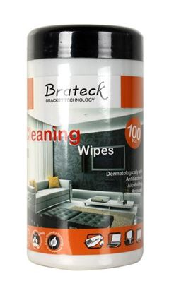Picture of BRATECK 100pc LCD Cleaning Wipes. Dermatologically safe, Alcohol