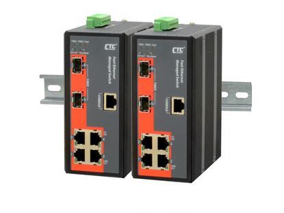 Picture of CTC UNION 4 Port Fast Ethernet Managed Switch. -10~60C.