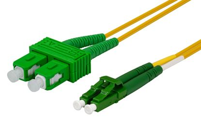 Picture of DYNAMIX 0.5M 9u LC APC/SC APC Duplex Single Mode G657A1 Bend