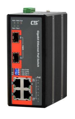 Picture of CTC UNION 4 Port Gigabit Unmanaged PoE Switch. -40C ~+75C.