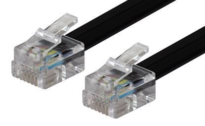 Picture of DYNAMIX 5m RJ12 to RJ12 Cable - 6C All pins connected straight