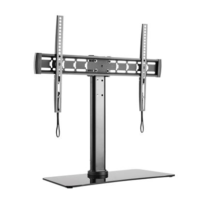 Picture of BRATECK 32'-55' Glass TV desk stand Height adjustable, tilt & rotate.
