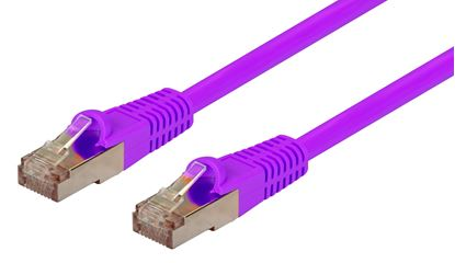 Picture of DYNAMIX 0.3m Cat6A Purple SFTP 10G Patch Lead. (Cat6 Augmented) 500MHz