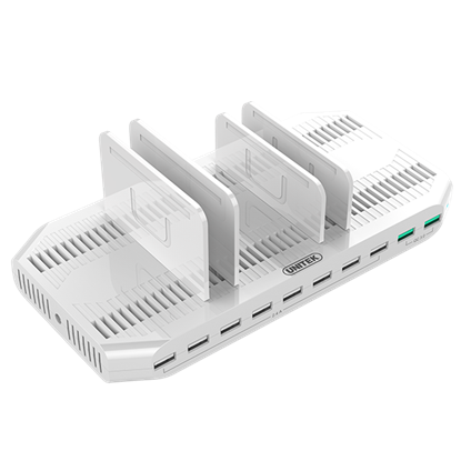 Picture of UNITEK 10 Port USB Smart Charging Station (8 Port 2.4A USB-A + 2x