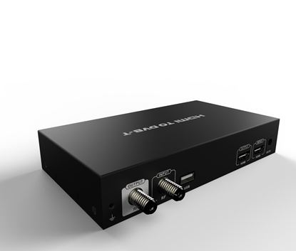 Picture of LENKENG HDMI to RF Digital Modulator with Loop Out Port.