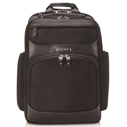Picture of EVERKI Onyx Laptop Backpack. Up to 15.6'. Travel friendly. Hard-shell