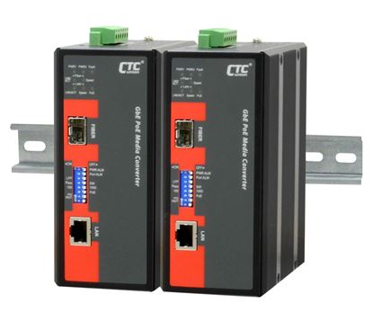 Picture of CTC UNION Unmanaged PoE Media Converter. 10/100/1000Base-T(X) to