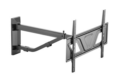 """Picture of BRATECK 37""""-80"""" Telescoping Arm Full-Motion TV Wall Bracket."""