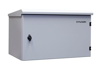 Picture of DYNAMIX 6RU Outdoor Wall Mount Cabinet. External Dims 611x425x390.