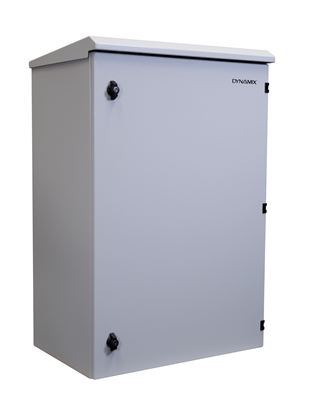 Picture of DYNAMIX 18RU Outdoor Wall Mount Cabinet. External Dims 611x625x915