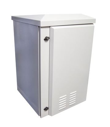 Picture of DYNAMIX 18RU Vented Outdoor Wall Mount Cabinet. Ext Dims 611x673x950
