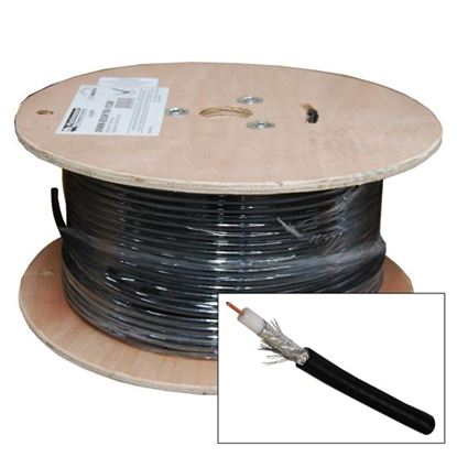 Picture of 152M Roll RG-6 Shielded Cable Black