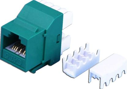Picture of DYNAMIX Cat6 GREEN Keystone RJ45