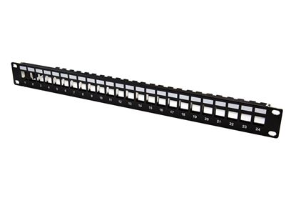 Picture of 24 Port Unloaded Patch Panel