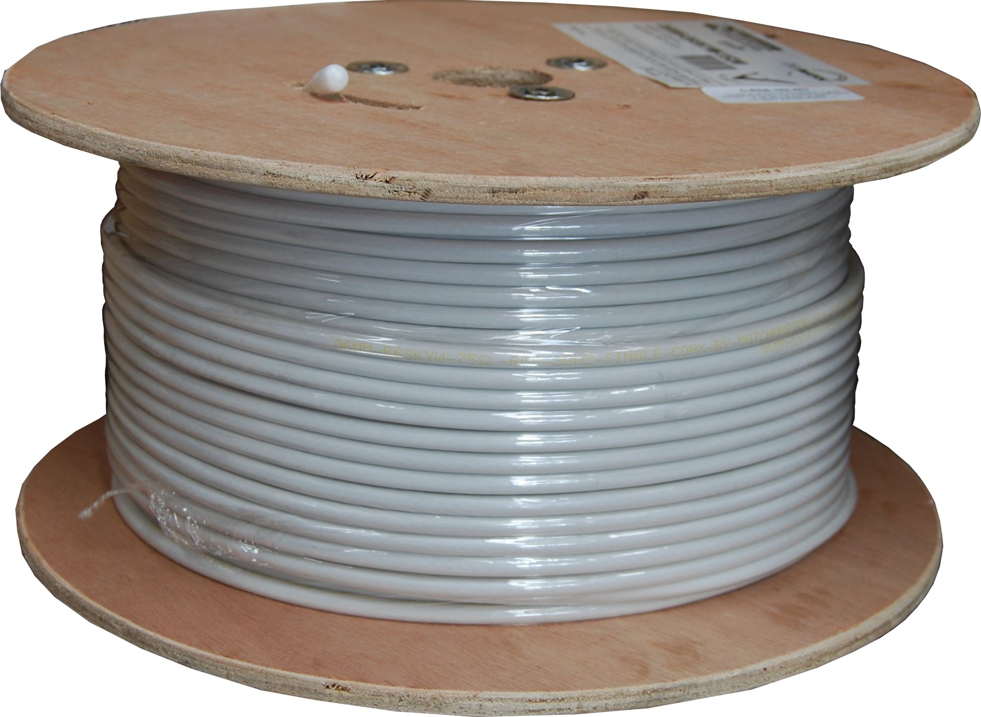 152M Roll RG6 Shielded Cable White